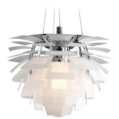 Louis Poulsen, Extra Large Glass Artichoke Chandelier by Poul Henningsen