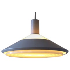 Louis Poulsen, Grey Pendant Lamp 'Klassependel', 1970s