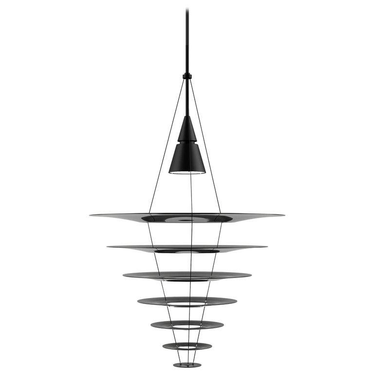 For Sale: Black (black.jpg) Louis Poulsen Large Enigma Pendant Lamp by Shoichi Uchiyama