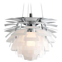 Louis Poulsen, Large Glass Artichoke Chandelier by Poul Henningsen
