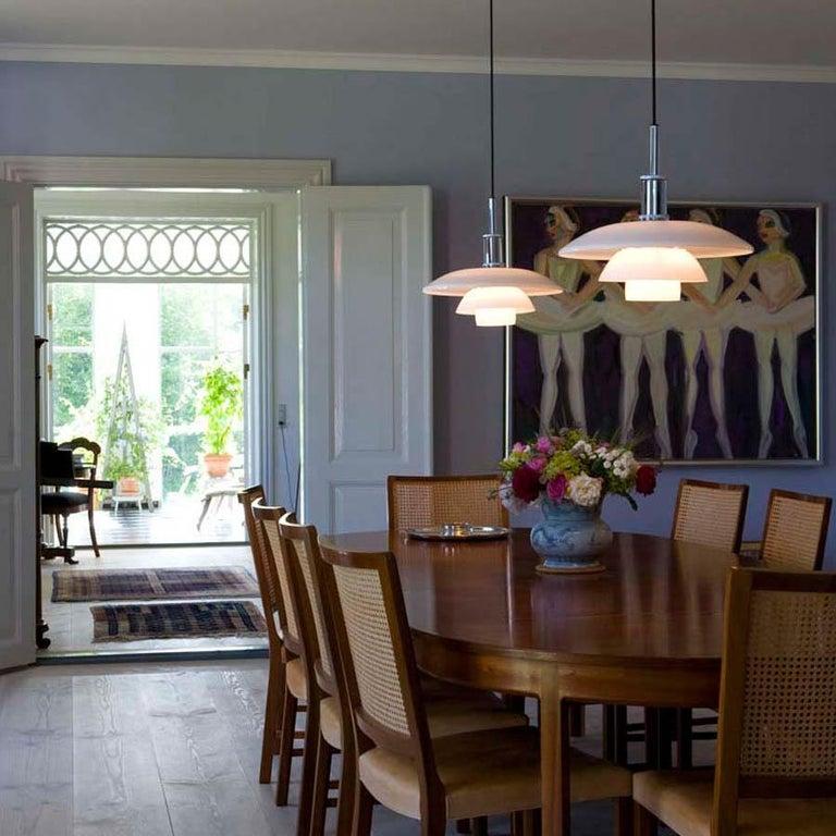 Modern Louis Poulsen, Large Glass Pendant Light by Poul Henningsen For Sale