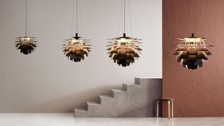 Danish Louis Poulsen, Medium Glass Artichoke Chandelier by Poul Henningsen For Sale