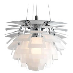 Louis Poulsen, Medium Glass Artichoke Chandelier by Poul Henningsen