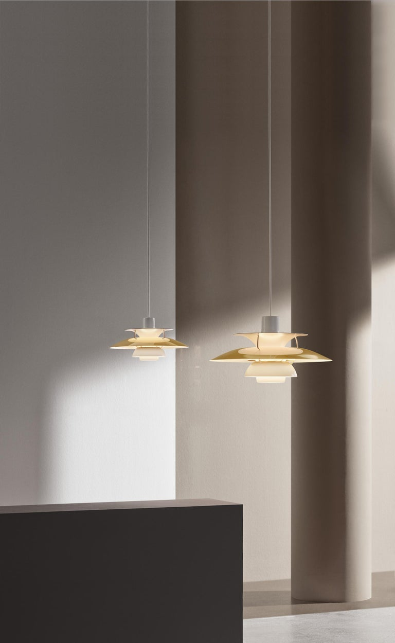 Modern Louis Poulsen, Medium Metal Pendant Light by Poul Henningsen For Sale