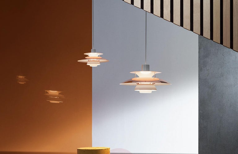 Danish Louis Poulsen, Medium Metal Pendant Light by Poul Henningsen For Sale