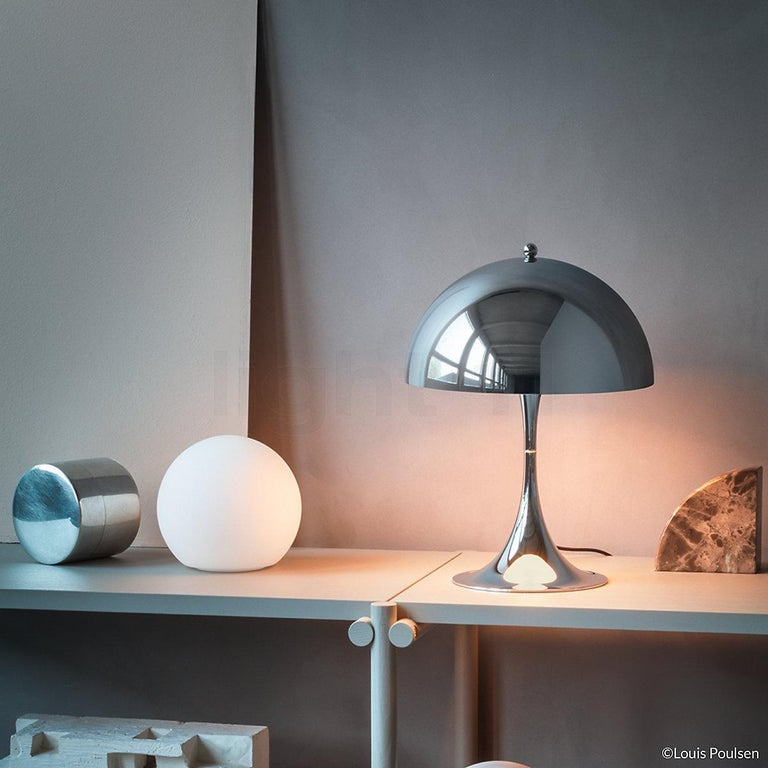 Modern Louis Poulsen, MINI Steel Table Lamp by Verner Panton For Sale