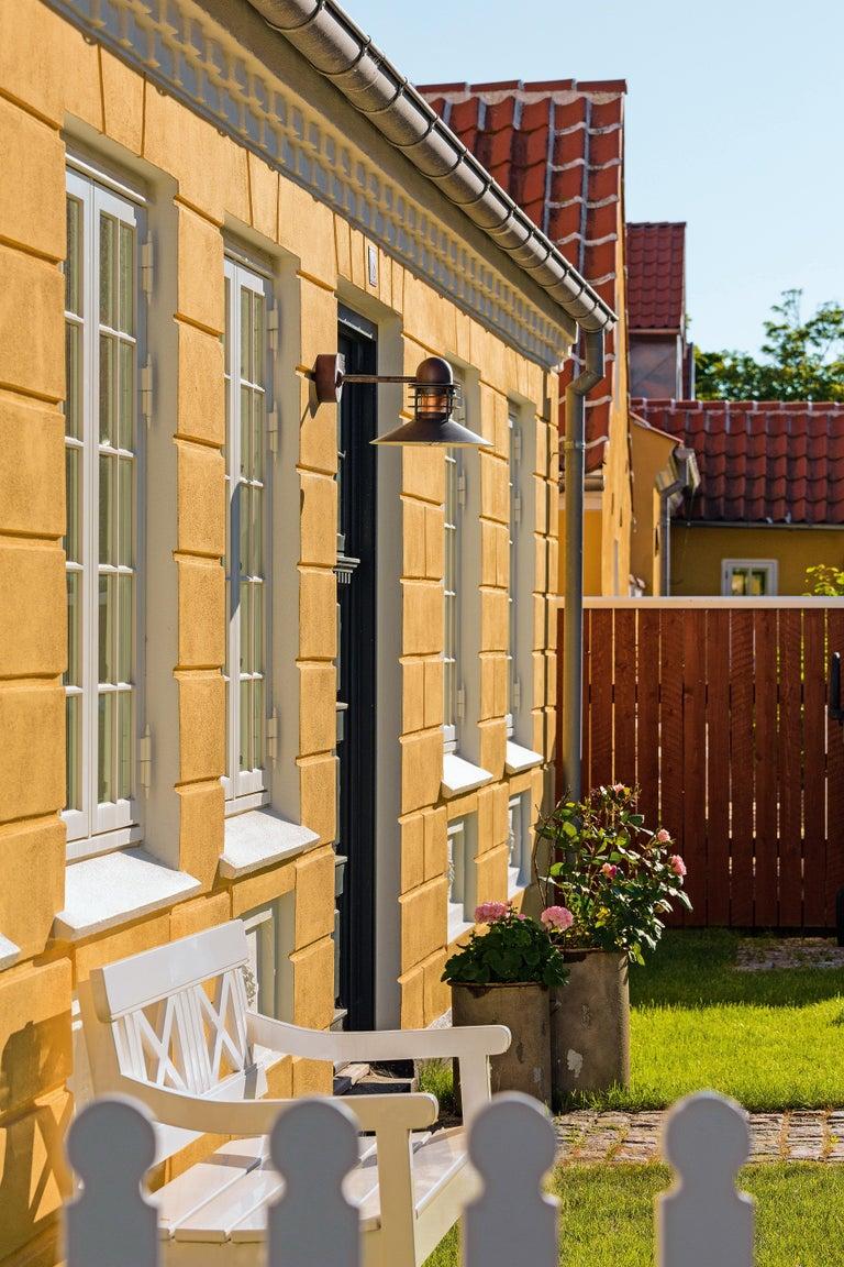 Danish Louis Poulsen 'Nyhavn' Copper Outdoor Wall Sconce For Sale
