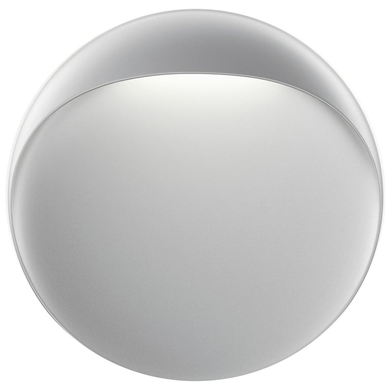 For Sale: Gray (aluminum grey.jpg) Louis Poulsen Outdoor Large Flindt Wall Lamp by Christian Flindt