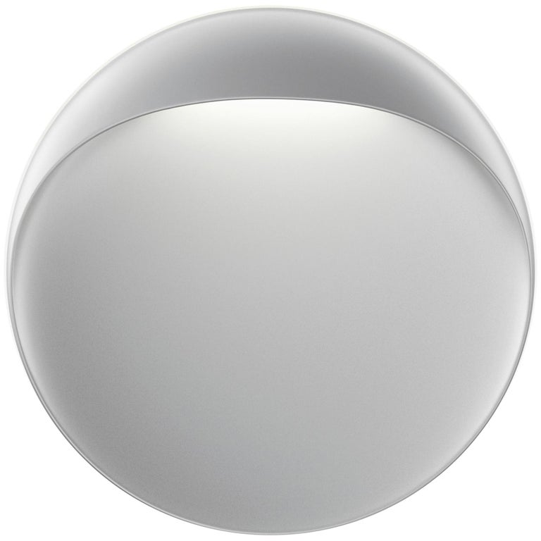 For Sale: Gray (aluminum grey.jpg) Louis Poulsen Outdoor Medium Flindt Wall Lamp by Christian Flindt