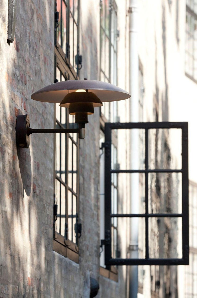 Modern Louis Poulsen, Outdoor Wall Lamp in Cooper by Poul Henningsen For Sale