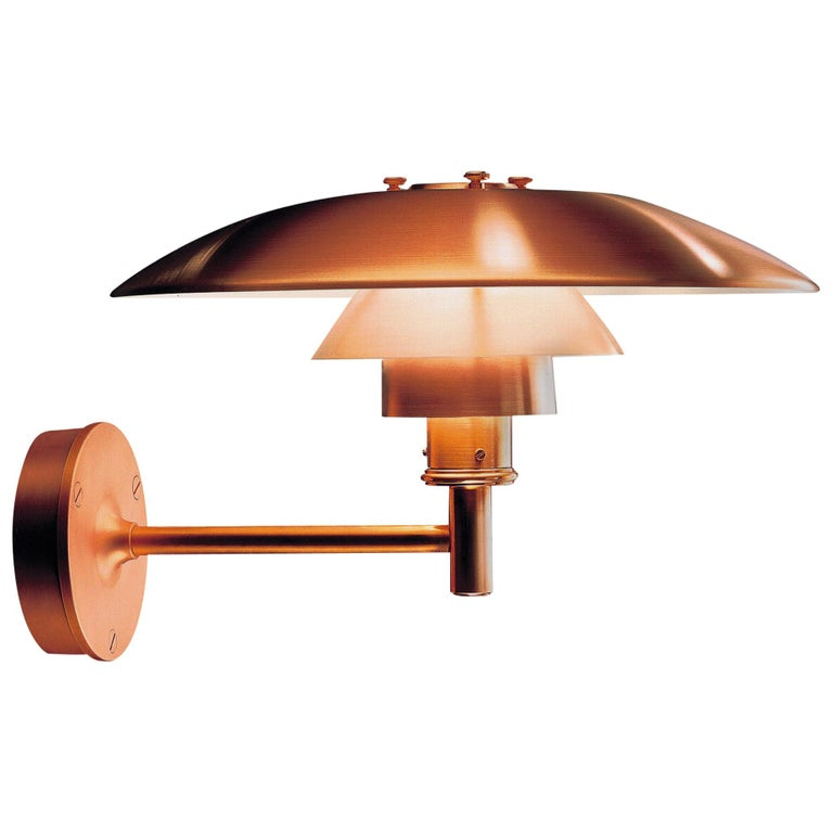 Louis Poulsen, Outdoor Wall Lamp in Cooper by Poul Henningsen For Sale