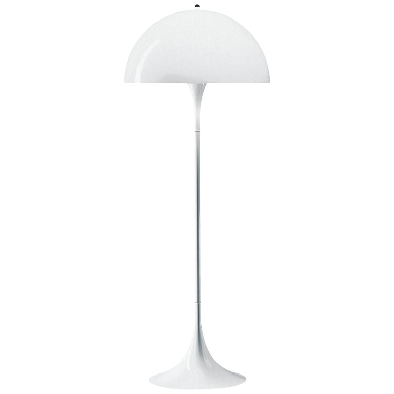 Louis Poulsen Panthella Floor Lamp in White Opal by Verner Panton For Sale