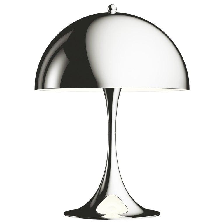 For Sale: Silver (chrome.jpg) Louis Poulsen Panthella Mini Table Lamp by Verner Panton