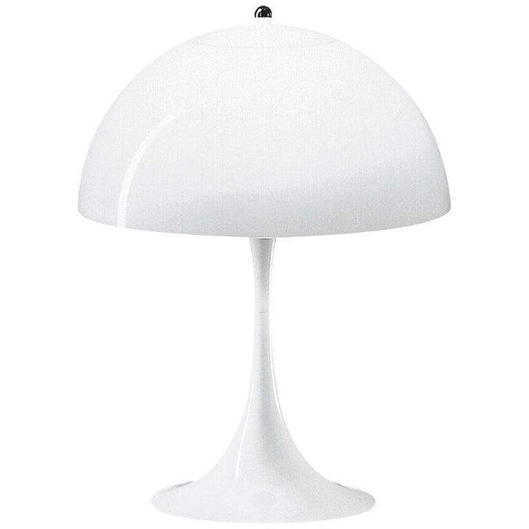 Louis Poulsen Panthella Table Lamp in White Opal by Verner Panton For Sale