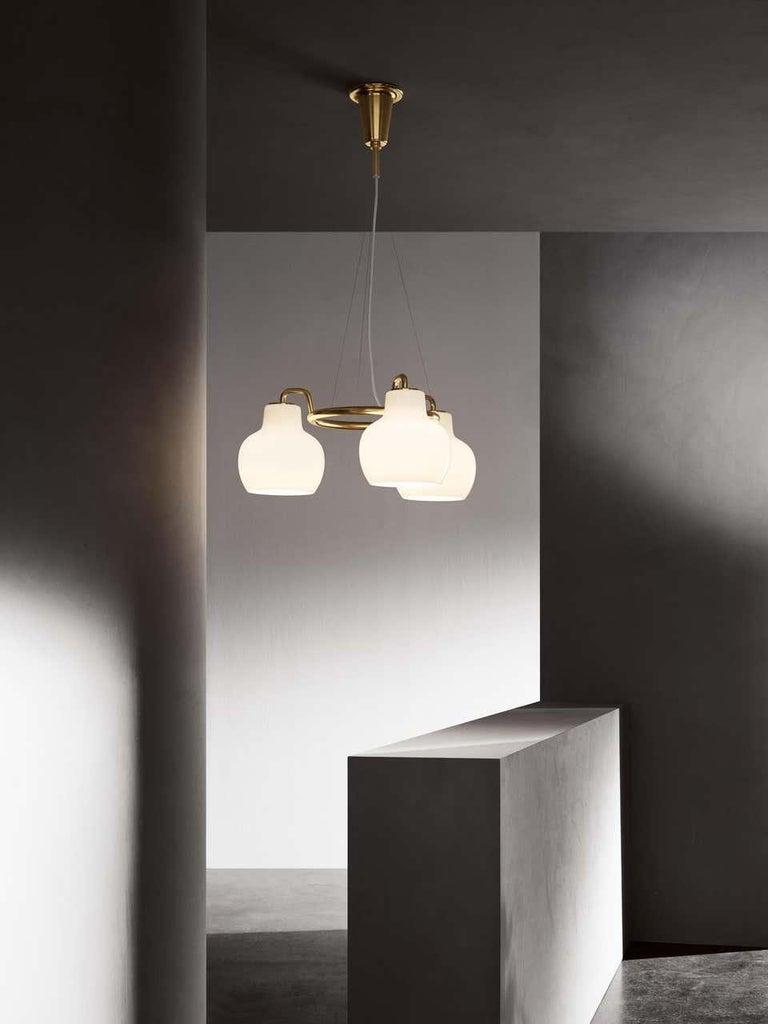 Modern Louis Poulsen, Pendant 3 Light by Vilhelm Lauritzen For Sale