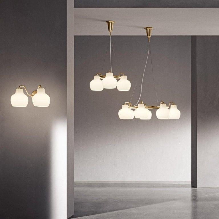 Danish Louis Poulsen, Pendant 3 Light by Vilhelm Lauritzen For Sale
