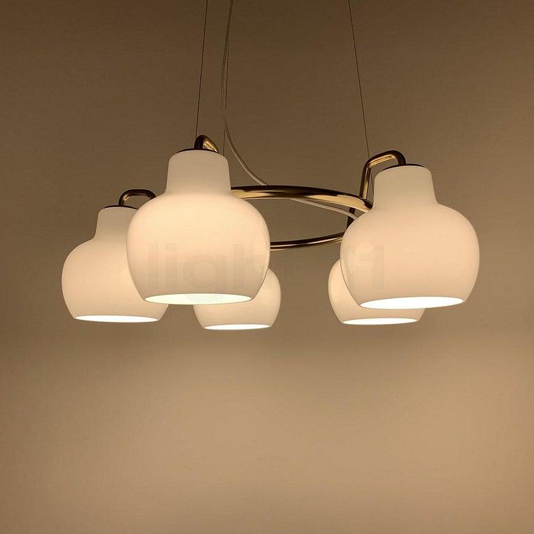 Danish Louis Poulsen, Pendant 5-Light by Vilhelm Lauritzen For Sale