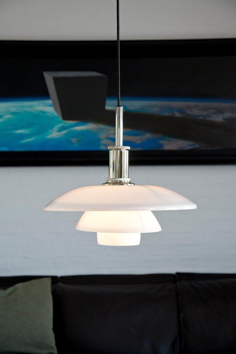 Glass Louis Poulsen PH 3/2 Pendant Light by Poul Henningsen For Sale