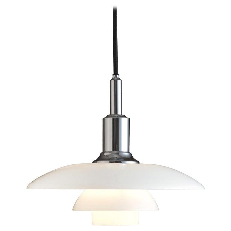 For Sale: Silver (chrome.jpg) Louis Poulsen PH 3/2 Pendant Light by Poul Henningsen
