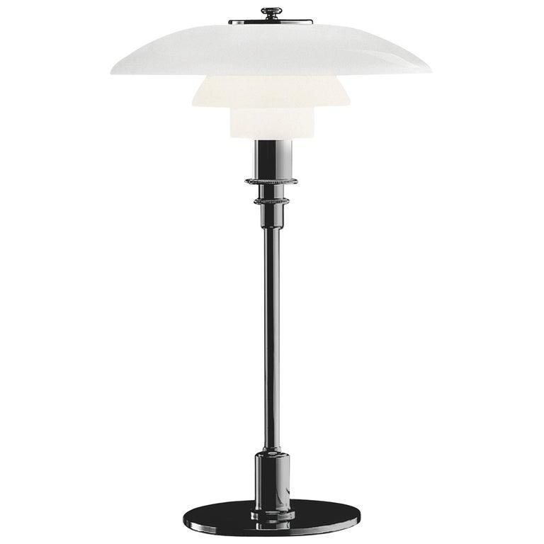For Sale: Silver (chrome.jpg) Louis Poulsen PH 3/2 Table Light by Poul Henningsen