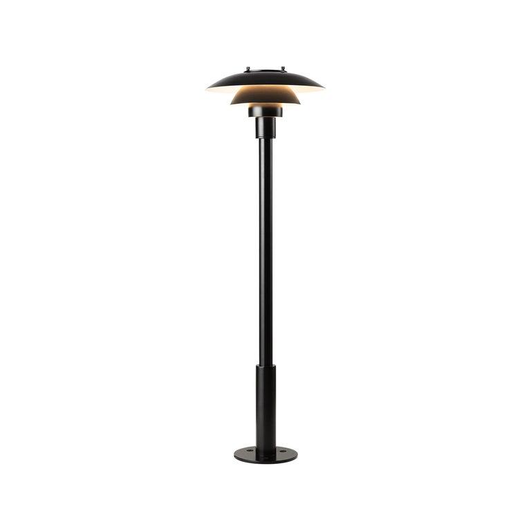 Louis Poulsen PH 3-2½ Bollard Outdoor Lamp in Black by Poul Henningsen For Sale