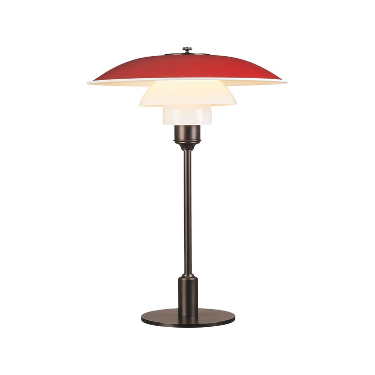 For Sale: Red (red.jpg) Louis Poulsen PH 3½-2½ Color Table Lamp by Poul Henningsen