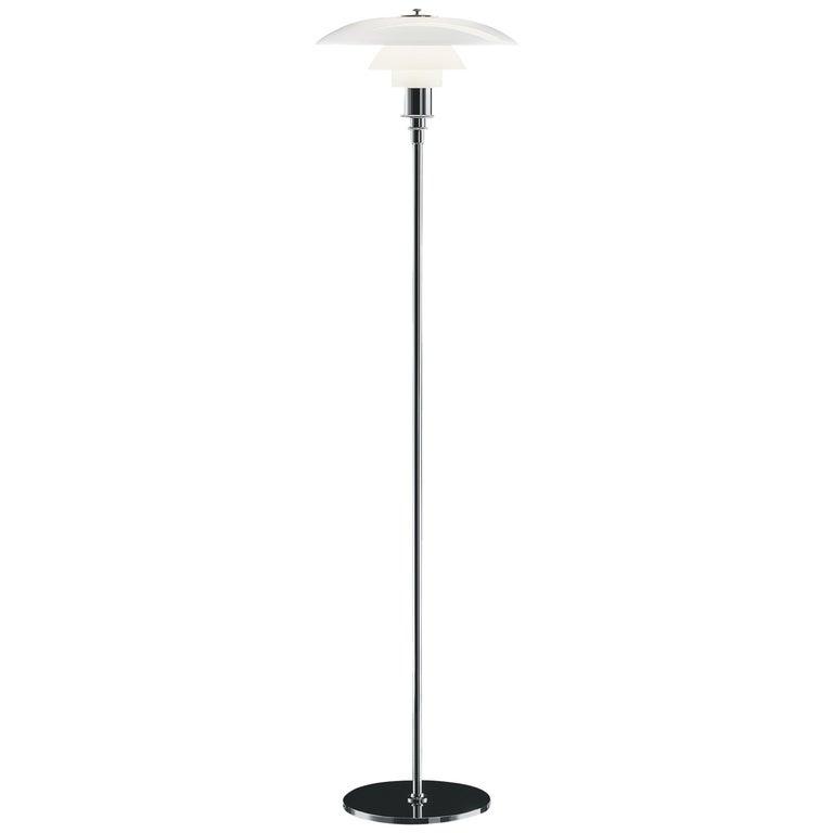 For Sale: Silver (chrome.jpg) Louis Poulsen PH 3½-2½ Floor Lamp by Poul Henningsen
