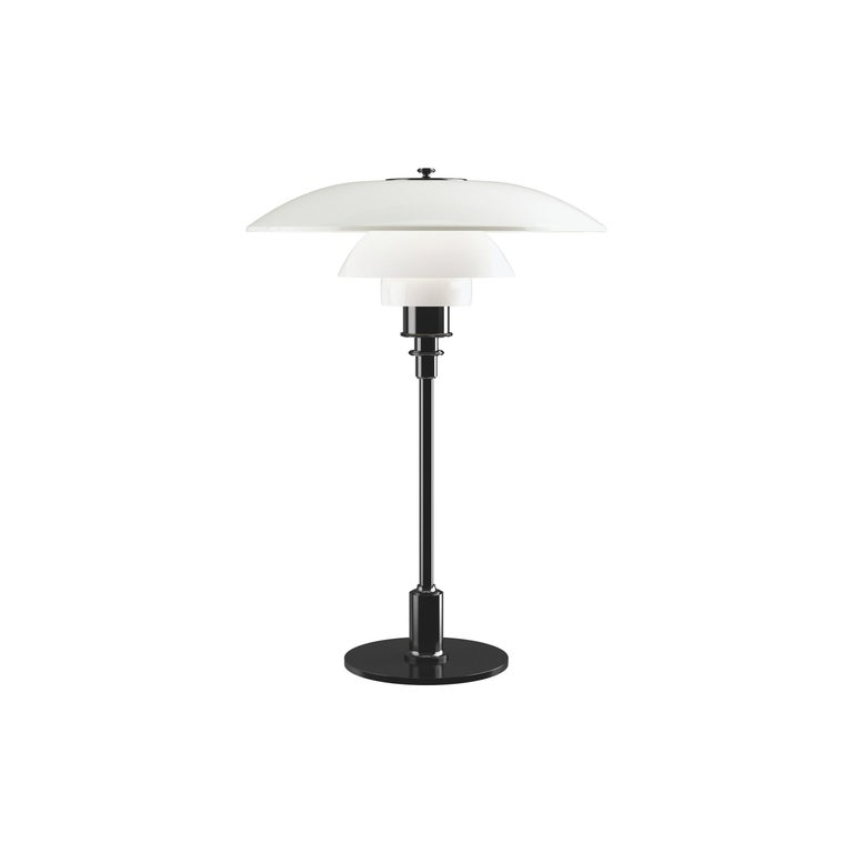 For Sale: Black (black.jpg) Louis Poulsen PH 3½-2½ Glass Table Lamp by Poul Henningsen