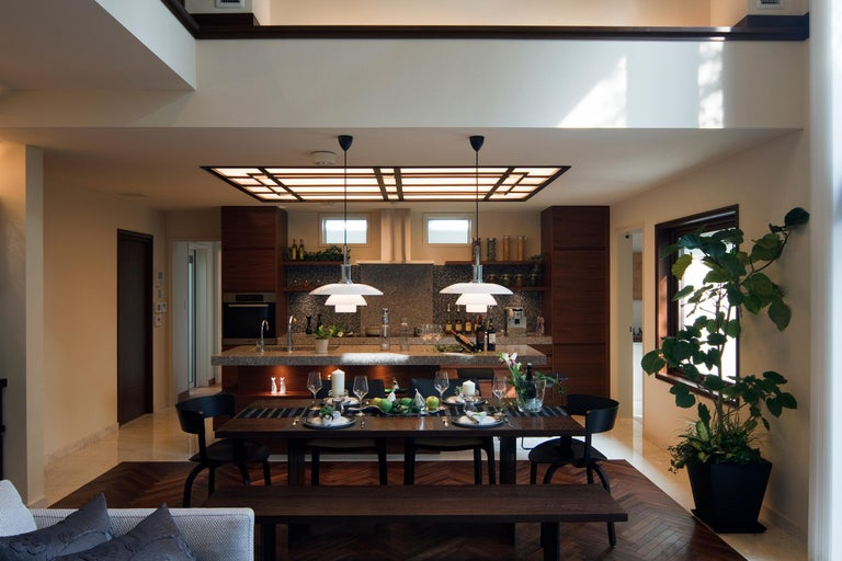 Louis Poulsen PH 3½-3 Color Pendant by Poul Henningsen In New Condition For Sale In Weston, FL