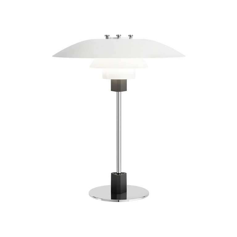 Louis Poulsen PH 4/3 Table Lamp in Matte White by Poul Henningsen For Sale