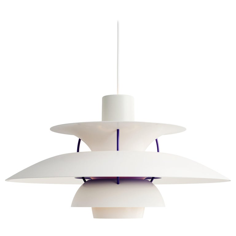 For Sale: White (white classic.jpg) Louis Poulsen PH 5 Pendant Light by Poul Henningsen