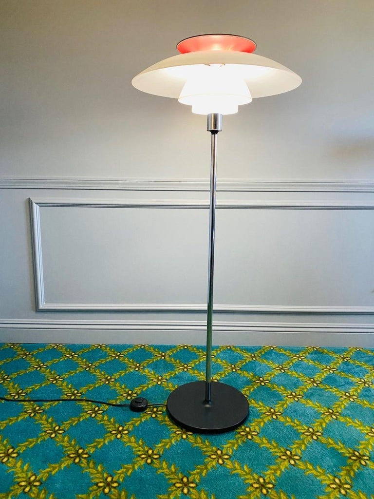 Metalwork Louis Poulsen PH 80 Floor Lamp by Poul Henningsen For Sale