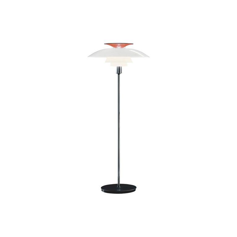 Louis Poulsen PH 80 Floor Lamp in White Opal by Poul Henningsen For Sale