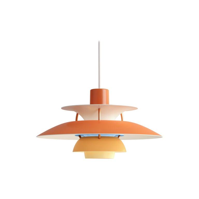 For Sale: Orange (orange.jpg) Louis Poulsen PH5 Mini Pendant Lamp by Poul Henningsen