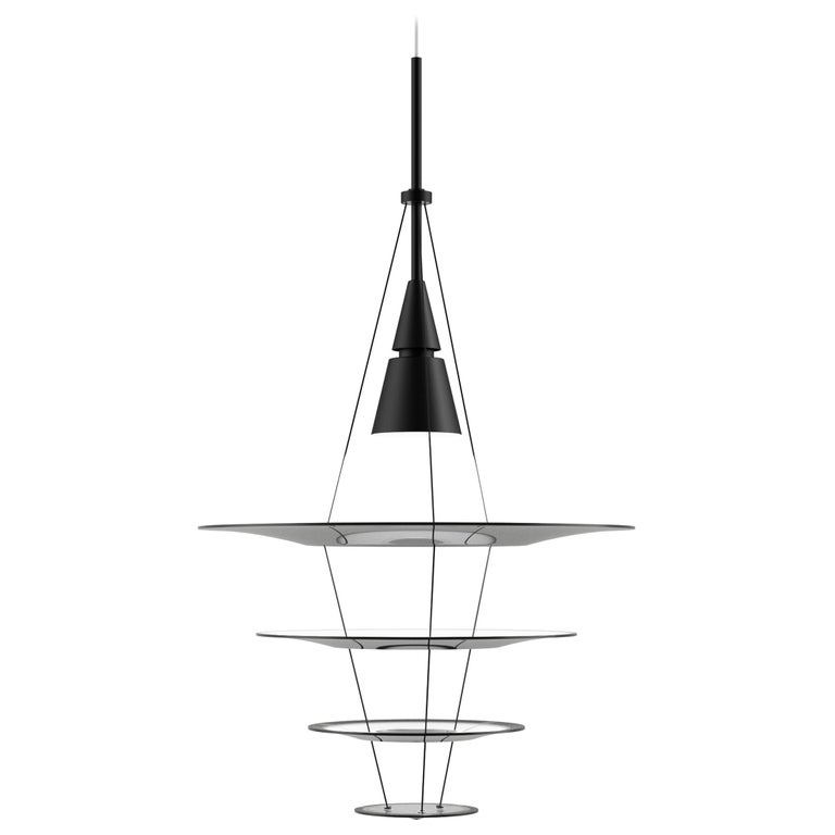 For Sale: Black (black.jpg) Louis Poulsen Small Enigma Pendant Lamp by Shoichi Uchiyama