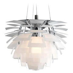 Louis Poulsen, Small Glass Artichoke Chandelier by Poul Henningsen