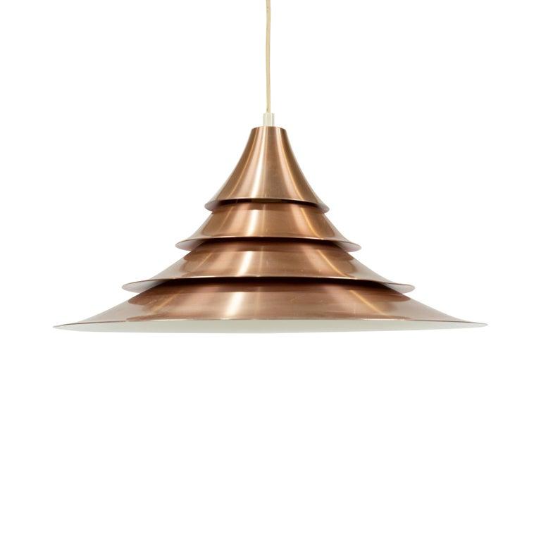 Danish Louis Poulsen Style Pendant Light For Sale
