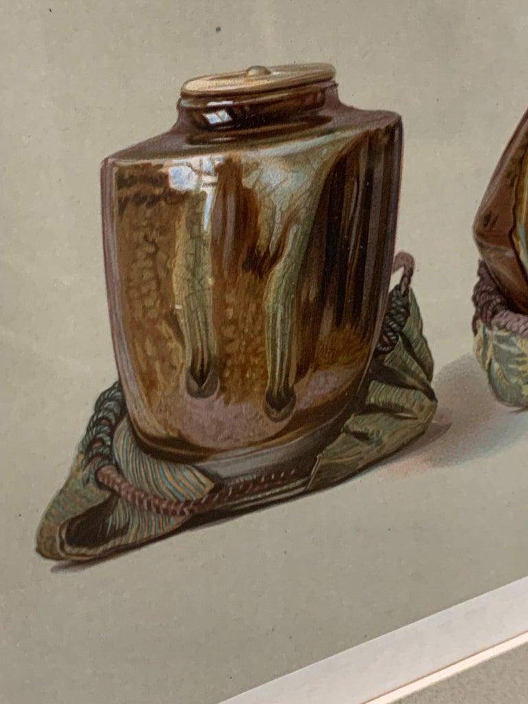 Set of Two Framed Color Lithographs,  Oriental Ceramic Art , 1897 For Sale 5