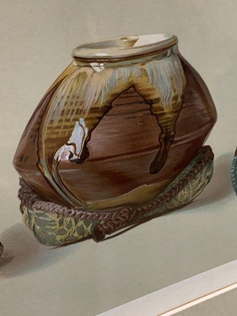 Set of Two Framed Color Lithographs,  Oriental Ceramic Art , 1897 For Sale 6