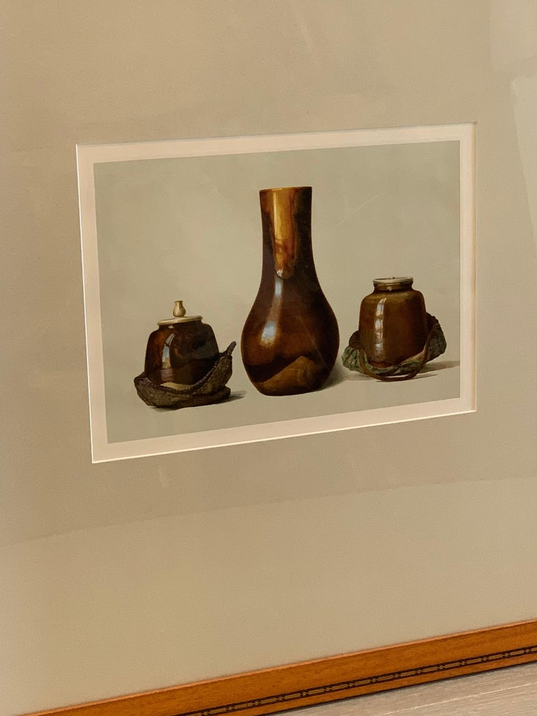 Set of Two Framed Color Lithographs,  Oriental Ceramic Art , 1897 For Sale 8