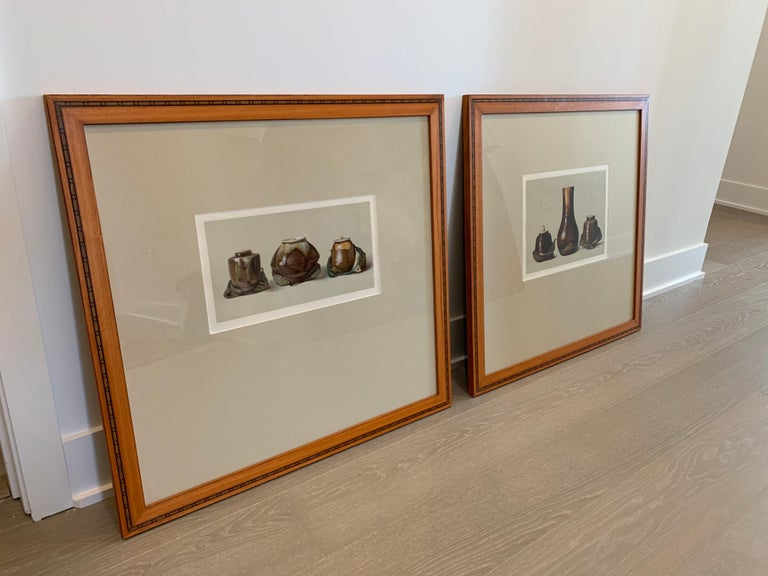 Set of Two Framed Color Lithographs,  Oriental Ceramic Art , 1897 - Print by Louis Prang