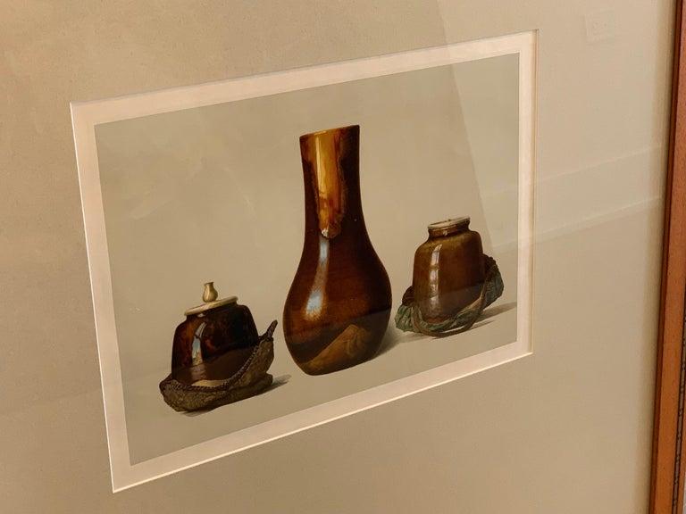 Set of Two Framed Color Lithographs,  Oriental Ceramic Art , 1897 For Sale 2
