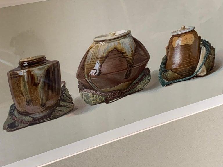 Set of Two Framed Color Lithographs,  Oriental Ceramic Art , 1897 For Sale 4