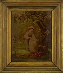 """""""Under the Apple Tree"""", Figurative Chromolithograph after George Niles, 188/250"""