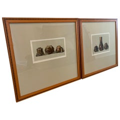 Louis Prang Set of Two Framed Color Lithographs, Oriental Ceramic Art, 1897