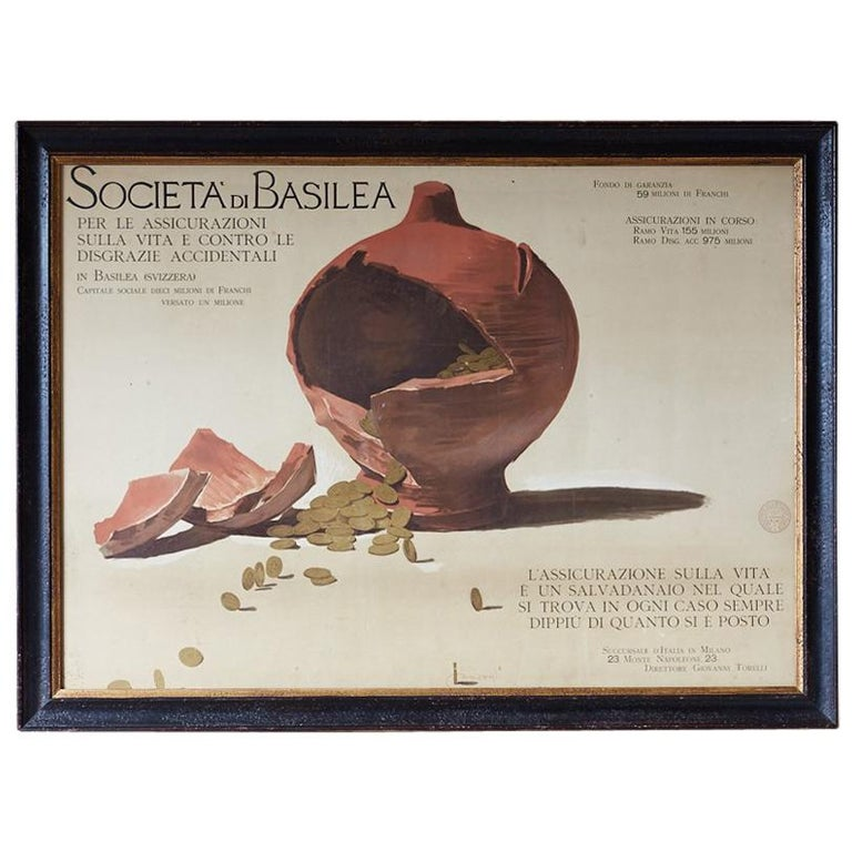 Louis Raemaekers Italian School Socitea di Basilea For Sale