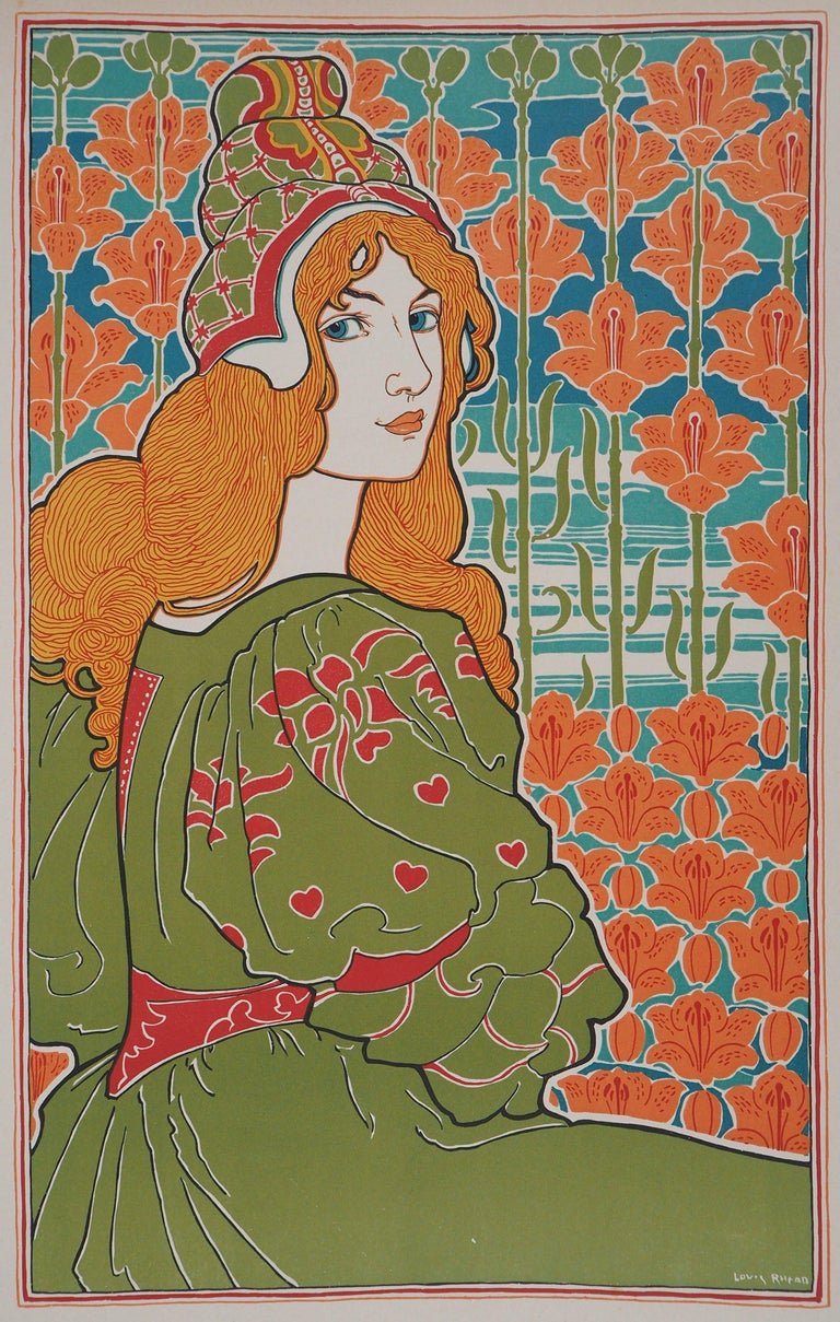 Jane - original lithograph (1897/98) - Print by Louis Rhead