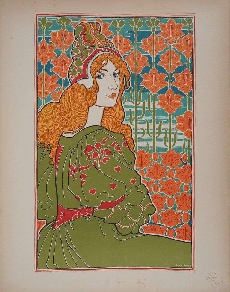 Louis Rhead Figurative Print - Jane - original lithograph (1897/98)