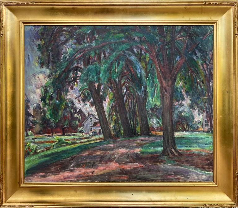 Louis Ritman Landscape Painting - Countryside - monochromatic colors
