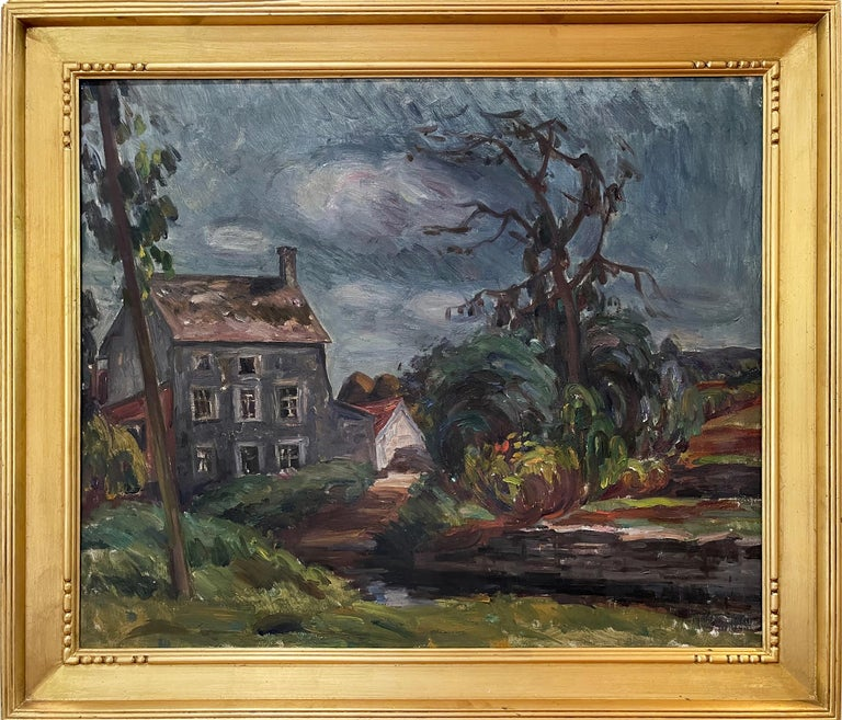 Louis Ritman Landscape Painting - The Gray House